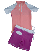 Girl UV Sun Protection Surf Combo Swim Set UPF 50+, FEDJOA Top T shirt  BUTTERFLY