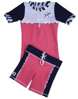 Girl UV Sun Protection Surf Combo Swim Set UPF 50+, FEDJOA Top T shirt Shorts ZEBRA