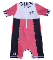 Girl All-in-one UV Protection sunsuit UPF 50+ Sand resistant ZEBRA