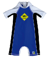 Boy All-in-one UV Protection sunsuit UPF50+ Sand resistant SHARKS