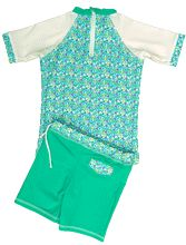 GIRL UV SUN PROTECTION SWIM SET UPF50+ T- SHIRT & SHORTS LOLA