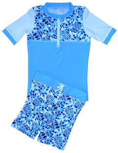 BOY UV SUN PROTECTION SWIM SET UPF50+ T- SHIRT & SHORTS TROPICAL