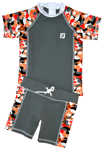 BOY UV SUN PROTECTION SWIM SET UPF50+ T- SHIRT & SHORTS FUJI
